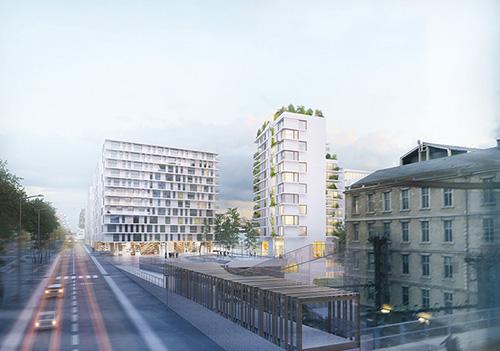 programme immobilier mixte de logements commerces et parking zac paris rive gauche paris. Black Bedroom Furniture Sets. Home Design Ideas